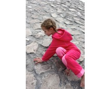 Ducksday Fleece suit Fuchsia-Light pink 86-92