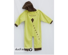Ducksday Fleece suit Lime-Brown 86-92